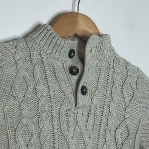 Baby Gap Cable Knit Sweater Beige Toddler Boys' 2T